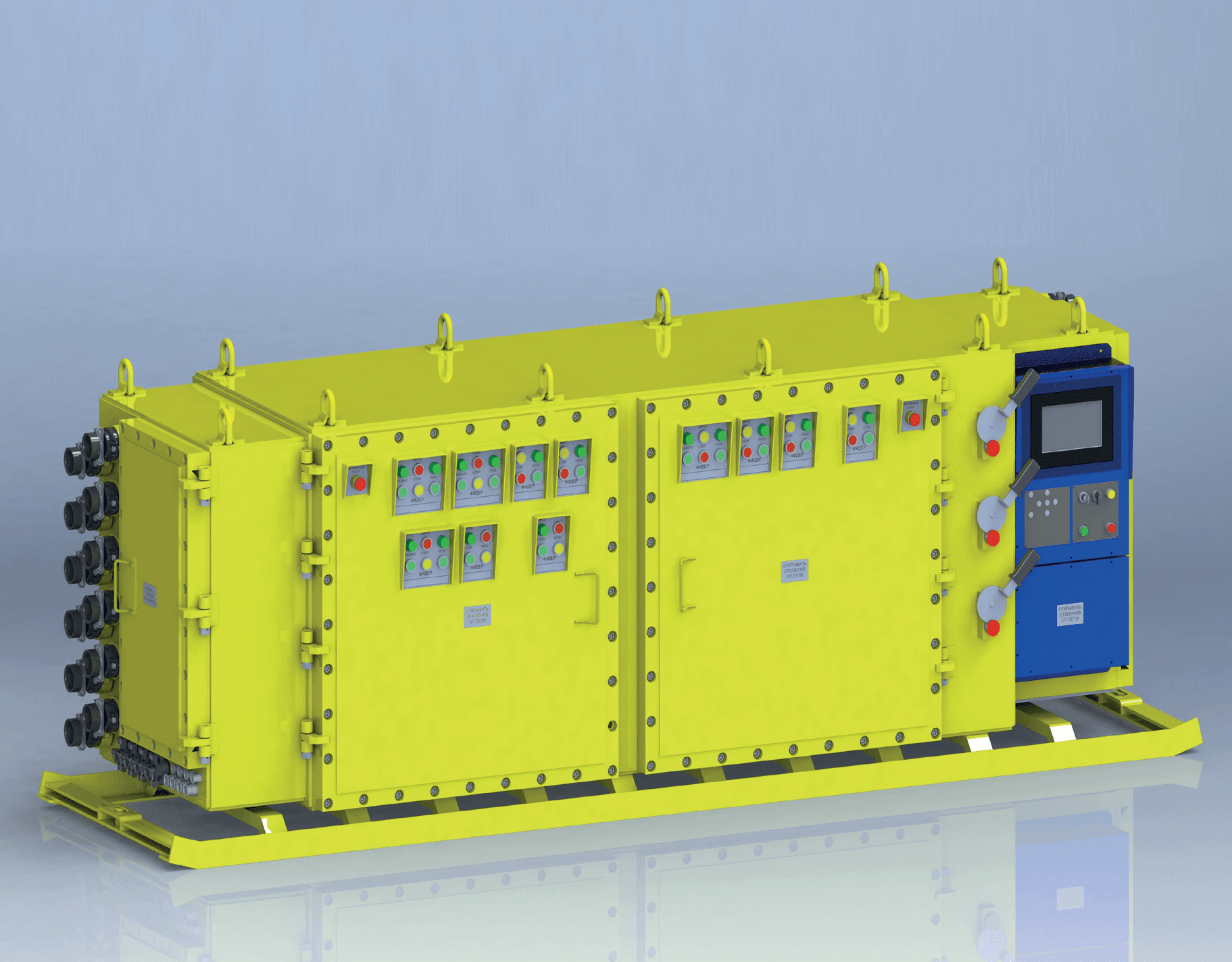 Explosion-proof motor control stations of УВПМ type